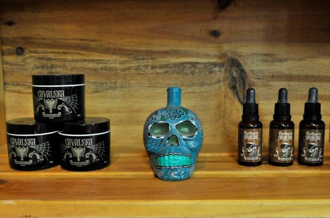 Os produtos exclusivos da Barbearia Cavalera